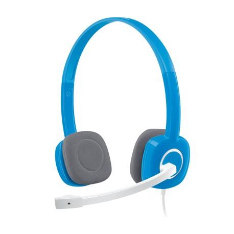 Гарнитура Logitech H150 (981-000368) накладные, 36Ом, 103дБ, кабель 1.7м, Sky Blue
