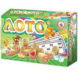 Игра настольная Лото, Русский стиль классическое, дерево, картонная коробка 2003