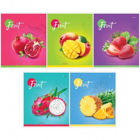 """Тетрадь 60л. кл. """"Фрукты. Colorful fruits"""" Спейс (Т60к 26685)"""