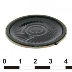 Динамик круглый,  d40мм, h5мм, 50ом, 0.25вт, DXI40N-A
