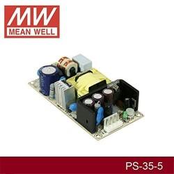 Блок питания бескорпусной  5в, 6а, 101.6*50.8*24мм, Mean Well PS-35-5
