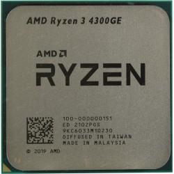Процессор AMD AM4 Ryzen 3 4300GE (4ядра/8потоков*3,5ГГц-4,0ГГц,4Мб,Vega6,35Вт,oem)