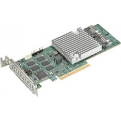 Supermicro AOC-S3916L-H16IR-32DD+-O  16-port/12Gb/s/32 SATA/SAS drives/ RAID (0/1/5/6/10/50/60)/8GB DDR4 on-card cache/SlimSASx8