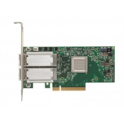 Mellanox ConnectX-4  EN network interface card, 40/56GbE dual-port QSFP28, PCIe3.0 x8, tall bracket, SR-IOV, TCP/UDP, MPLS, VxLAN