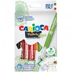 """Фломастеры 10цв. Carioca """"Fabric Liner"""" для ткани 42909"""
