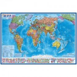 """Карта """"Мир"""" политическая ГЛОБЕН, 1:15,5млн. 199*134см КН084"""