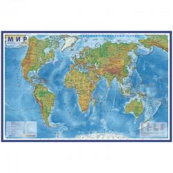 """Карта """"Мир"""" физическая ГЛОБЕН, 1:25млн. 120*78см КН047"""