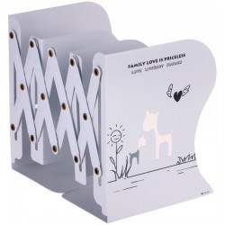 Подставка для книг MESHU, 3 отделения, раздвижная, белая 308519