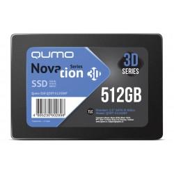 SSD-накопитель 512Гб Qumo Novation [Q3DT-512GSKF](SM2258XT,TLC 3D NAND,550/500 Мб/с)