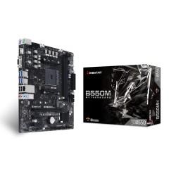 Материнская плата Biostar B550MH (SocketAM4,AMD B550,mATX,2DDR4,M.2,2PCI-E,VGA,HDMI,PC4400)
