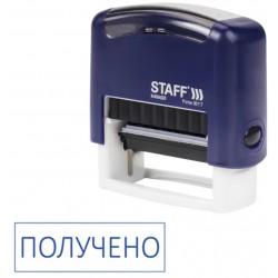 "Штамп STAFF ""ПОЛУЧЕНО"", оттиск 38х14 мм, ""Printer 9011T"", 237422"