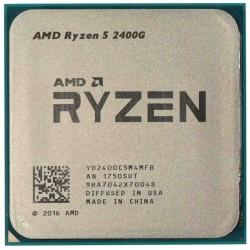 Процессор AMD AM4 Ryzen 5 Pro 2400G (4ядра/8потоков*3,6ГГц-3,9ГГц,6Мб,Vega11,65Вт,oem)