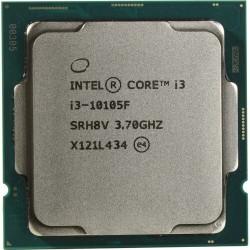 Процессор 1200 Intel Core i3-10105F (4ядра/8потоков*3,7ГГц-4,4ГГц,6Мб,65Вт,oem)