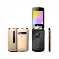 "Сотовый телефон BQ BQ-2816 Shell Gold (2sim/2.8""/320*240/32Mb/microSD/-/Bt/1100мАч/фонарик)"