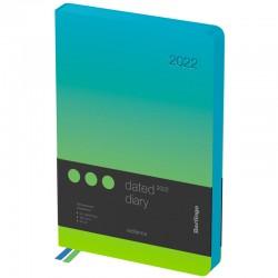 """Ежедневник BERLINGO A5 2022г. """"Radiance"""", 184л. зеленый/голубой DD2 93503"""