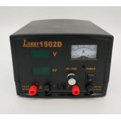 Блок питания лабораторный LUKEY-1502D, 15в, 2а, линейный, 1*LCD, 1*Analog