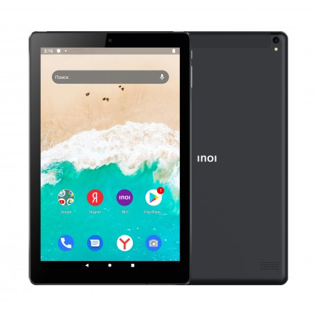 "Планшет INOI inoiPad 2+32Gb Wi-Fi+3G Черный 10.1""/1280*720/4*1.3Ггц/microSD/2Gb/32Gb/5МП/And10 Go/6000mAh"