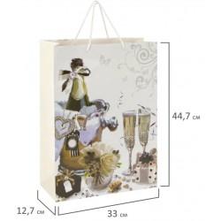 """Пакет подарочный """"Свадебный"""" 33x12,7x44,7 см, 606576"""