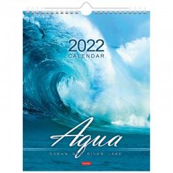 """Календарь настен. 2022г. ХАТБЕР """"Aqua"""" 22*30см (12Кнп4гр 22769)"""