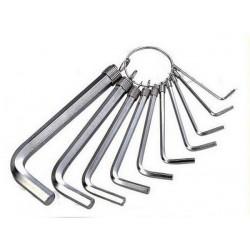 Набор шестигранных ключей BS423198 (HEX 1.5 2 2.5 3 3.5 4 5 6) на кольце