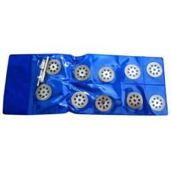 Алмазные диски для гравера (набор 10 штук + 2 держателя) d=22мм