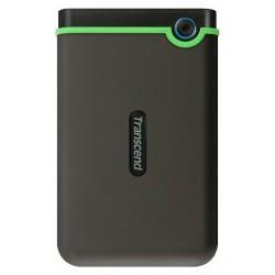 """Внешний жесткий диск Transcend (TS1TSJ25M3S) серый резиновый,противоударный (USB3.0,2.5"""",1TB)"""