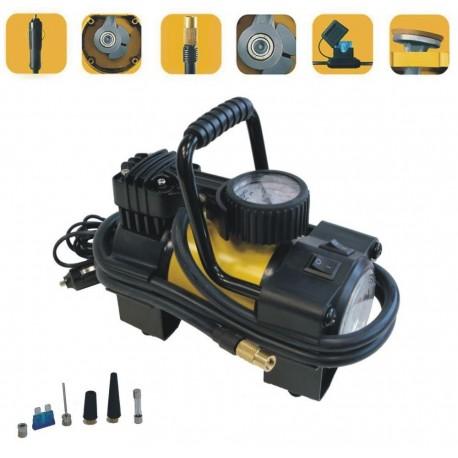Компрессор автомобильный Качок К90 LED фонарик 10 Атм/Вр. непрерывной раб. 20 мин./2,2 кг