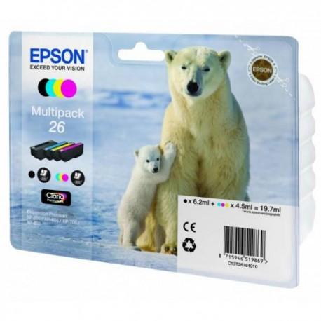 Набор картриджей Epson 26 (C13T26164010) для XP-600/605/700/800 Black/Cyan/Magenta/Yellow