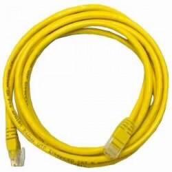 Патч-корд   5m кат 5E UTP желтый