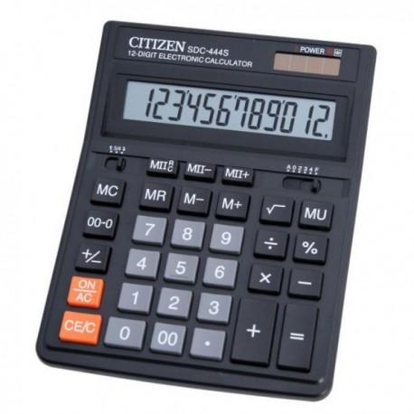 Калькулятор CITIZEN SDC-444S  12 разряд, черный