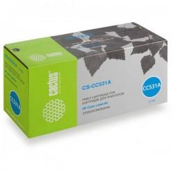 Картридж лазерный CACTUS CS-CC531A для HP Color LaserJet CP2025/CM2320mfp голубой (2800 стр)