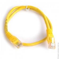 Патч-корд   1m  кат 5E UTP желтый