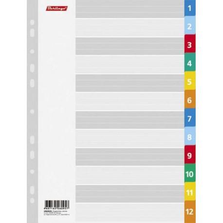 Разделитель листов BERLINGO цветовой 1-12л. ARp 04020