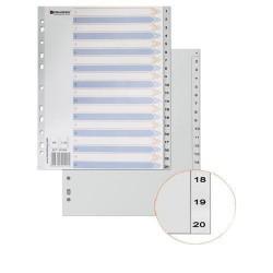 Разделитель цифровой пластиковый BRAUBERG 1-20л. (221848)
