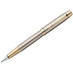 PARKER Ручка перьевая IM Brushed Metal GT (1931649)