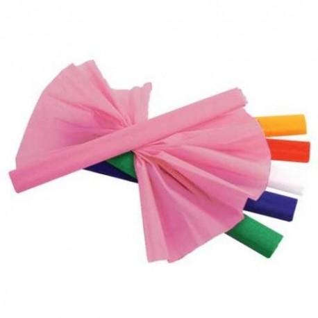Цветная бумага крепированная, 110г/м, 50*250см., оранжевая (129149)