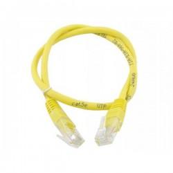 Патч-корд   0.5m кат 5E UTP желтый