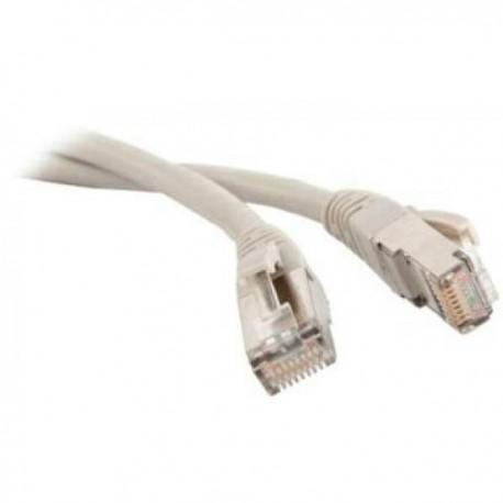 Патч-корд   5m  кат 5E FTP серый экранированный