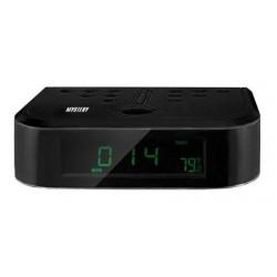 Радиобудильник Mystery MCR-66 Black 24ч. формат, таймер, 2 режима будильника, FM, УКВ, СВ