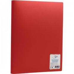 Папка с 40 вкл. Спейс 600мкм. красная (F40L3 288)