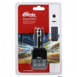 FM-Модулятор/трансмиттер RITMIX FMT-A710 USB,MicroSD MP3,пульт