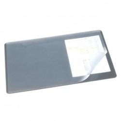 Покрытие на стол 53*40см. DURABLE 7202-10 прозр. лист. серый