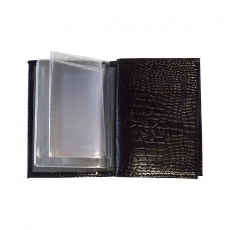 Обложка для паспорта OfficeSpace иск. кожа + изолон, с кнопкой, терракот, крокодил 222067