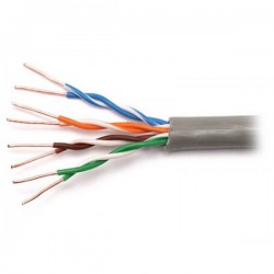 Витая пара 305m Cu NETLAN F/UTP 24 AWG 4 пары кат 5E -40C EC-UF004-5E-PE-BK внешний экран