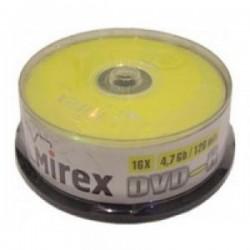 Диск DVD-R 25шт Mirex 4.7Gb 16x Cake Box (UL130003A1M)