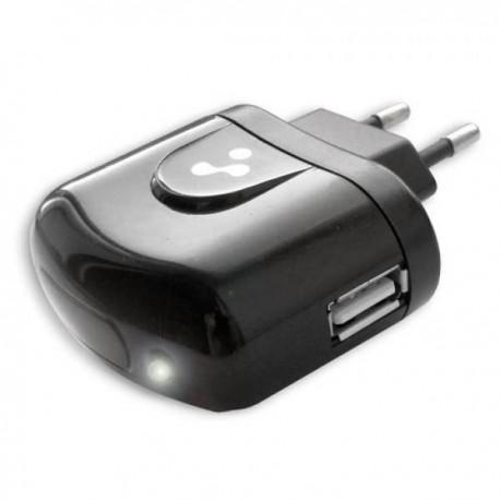 Зарядное устройство - USB 1A Vertex Slim Line черное