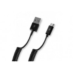 Дата-кабель USB-microUSB Deppa черный витой 1,5м (72123)