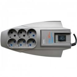 Сетевой фильтр 5м, 6 розеток, 10А, с выключателем, черный, Pilot, X-Pro