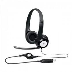 Гарнитура Logitech H390 (981-000406) накладные, 62дБ, кабель 2.4м, Black