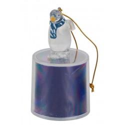 """Новогодний сувенир """"Пингвин"""" ORIENT CT003 7.5см многоцветная подсветка, встроенные батарейки"""